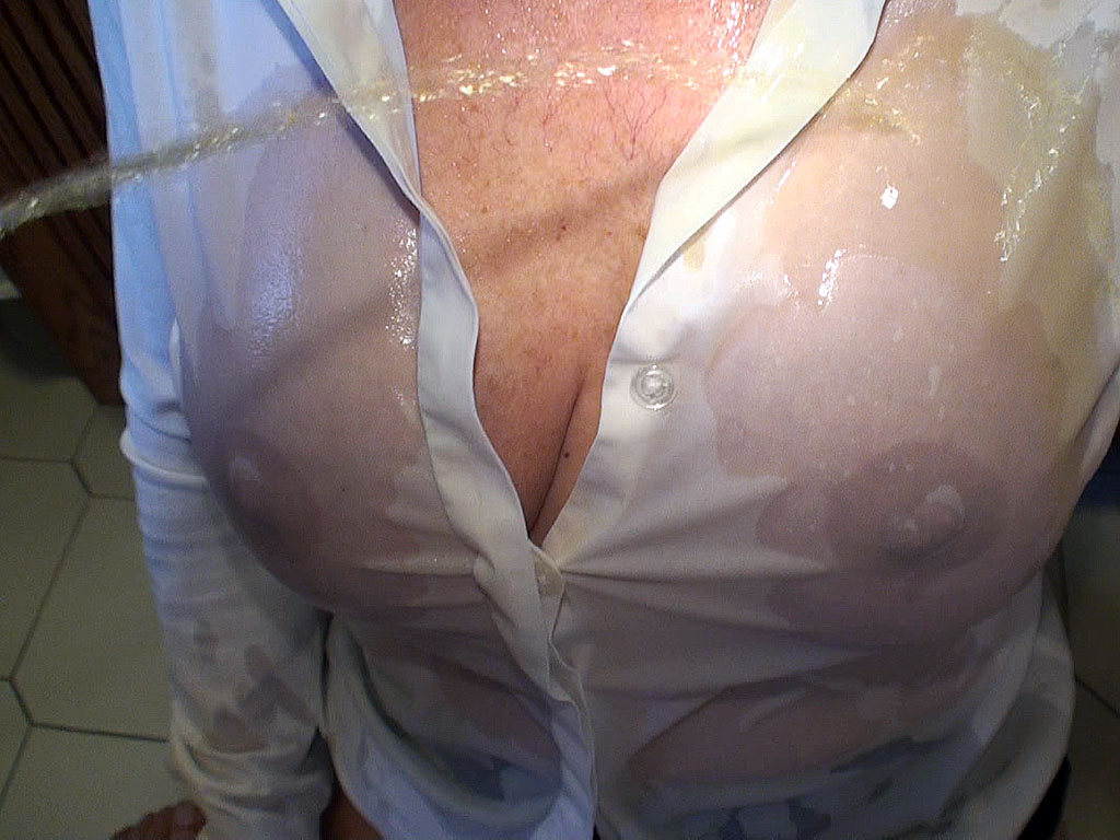 image Peeing on my shirt and cumming all over for krissy